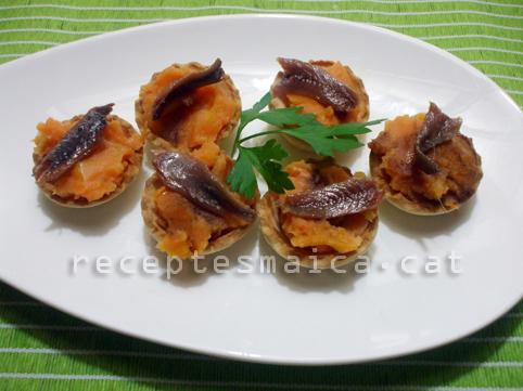Tartaletes amb moniato i anxovaBR