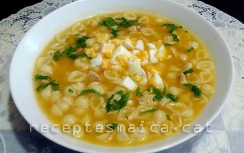 Sopa de pollastre amb pasta-BR