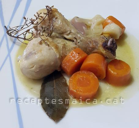 Pernilets de pollastre amb escabetx i verdures-BR